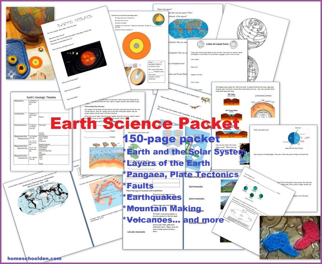Earths Timeline Worksheet