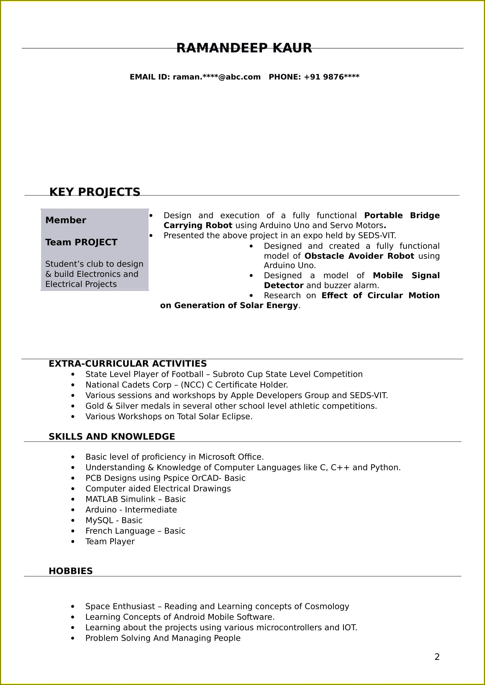 Electrical Engineer Diploma Electrical Resume Format Pdf