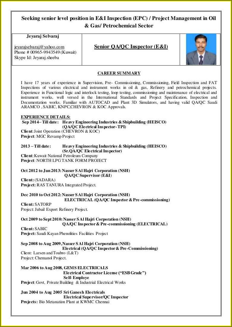 Electrical Engineer Resume Format For Freshers Engineers