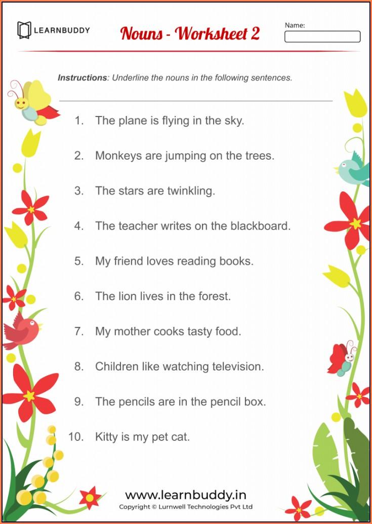 English Grammar Pronoun Worksheets For Grade 2