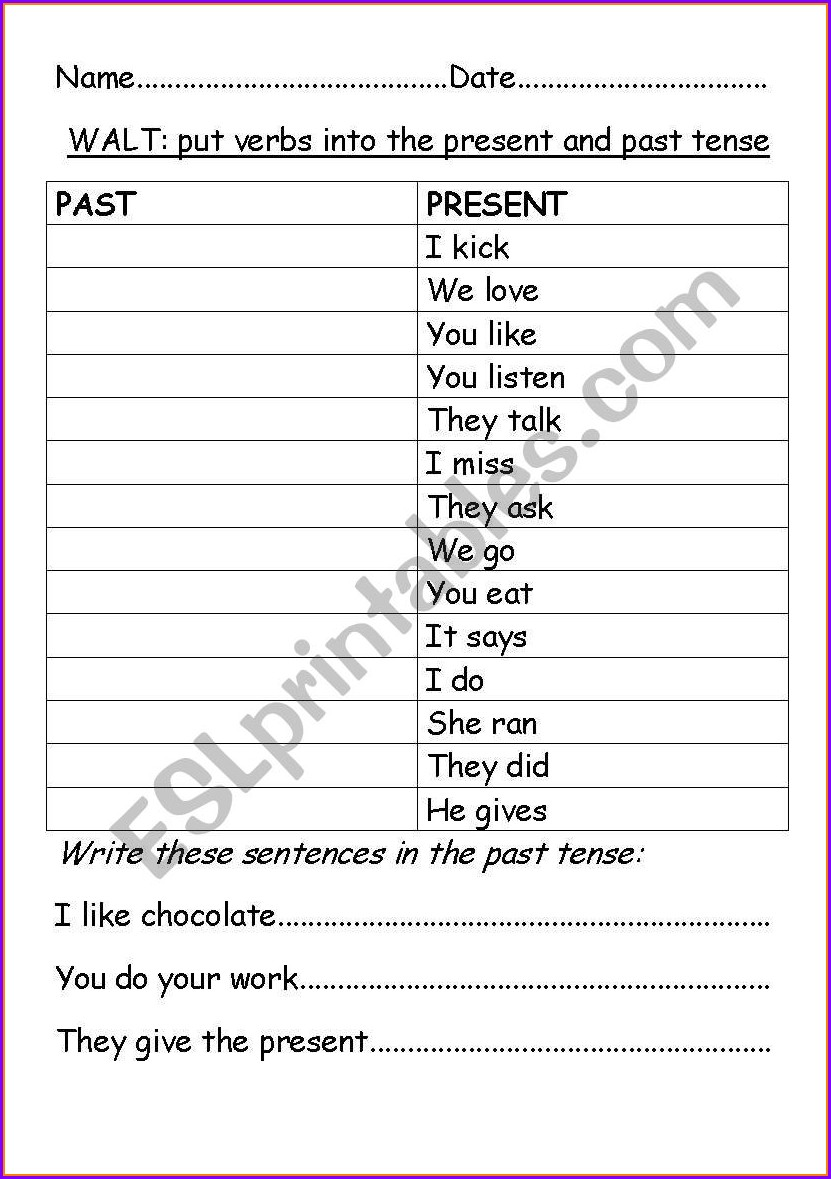 English Worksheet To Be Present Tense