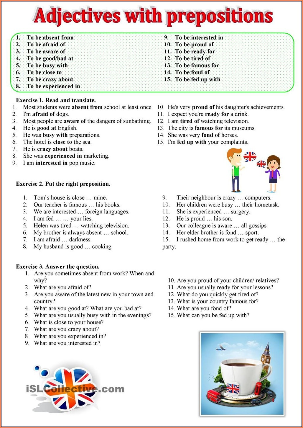 English Worksheets With Adjectives