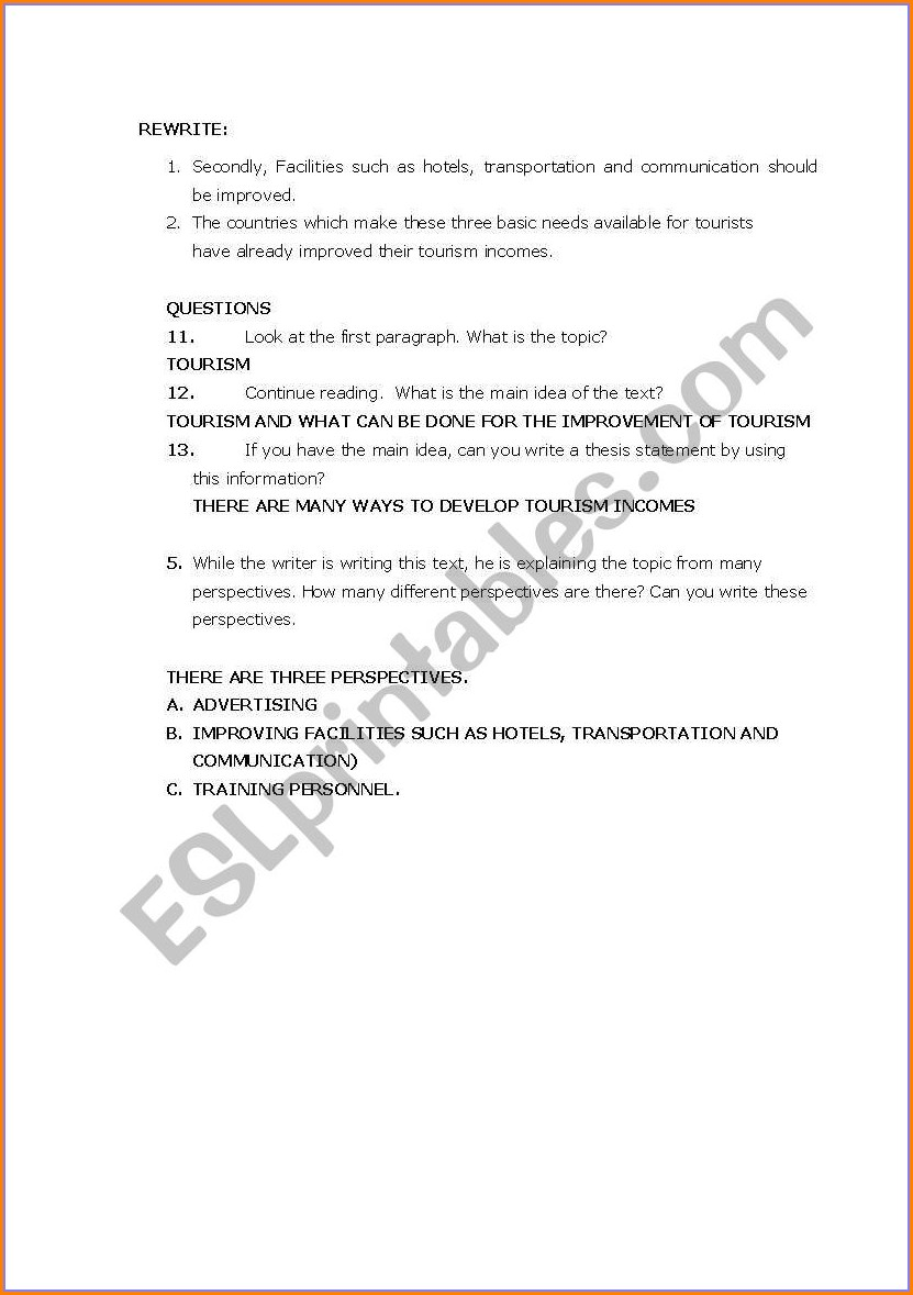 Esl Writing Error Correction Worksheet