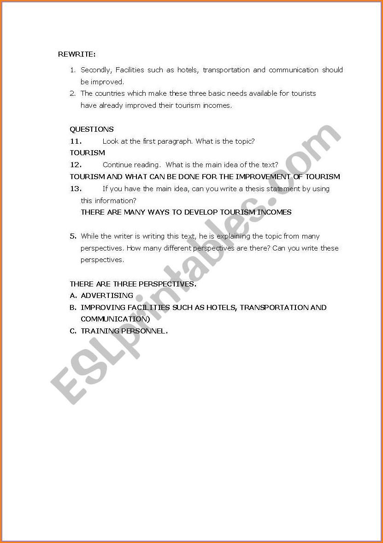 Esl Writing Error Correction Worksheet
