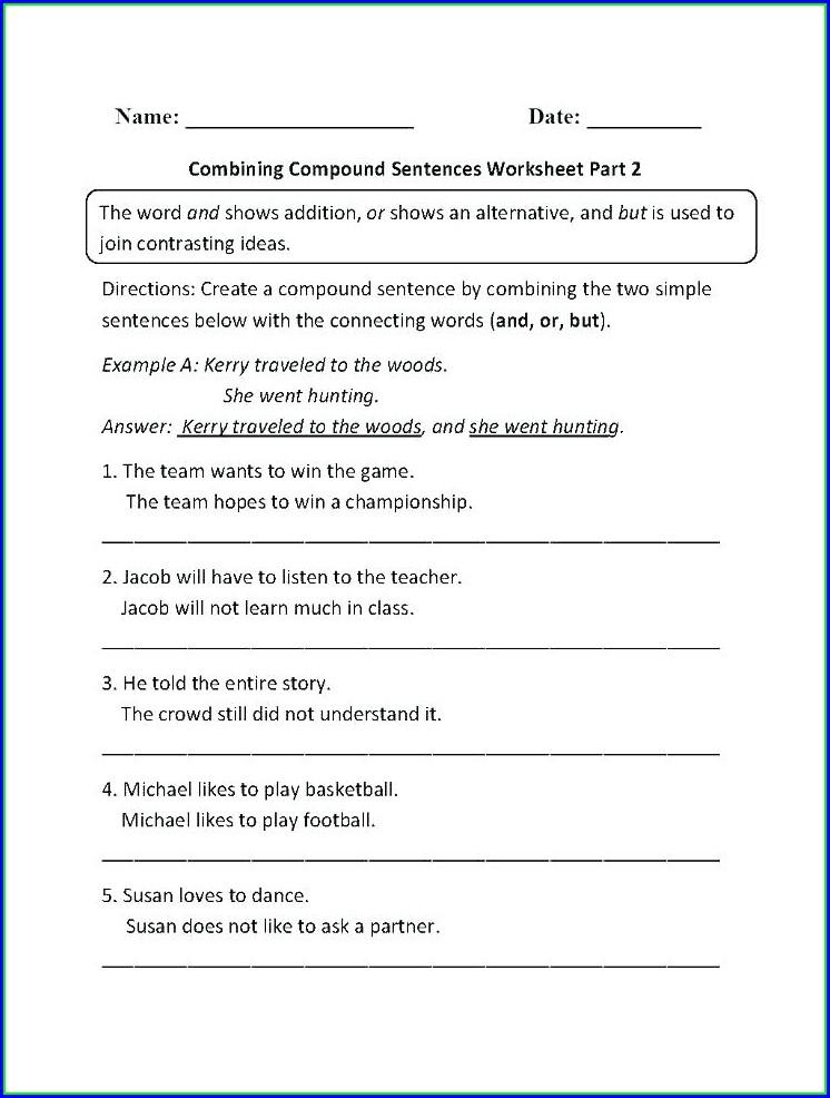 Esl Writing Simple Sentences Worksheets