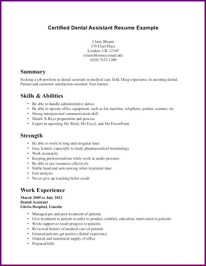 Example Resume For Medical Administrative Assistant