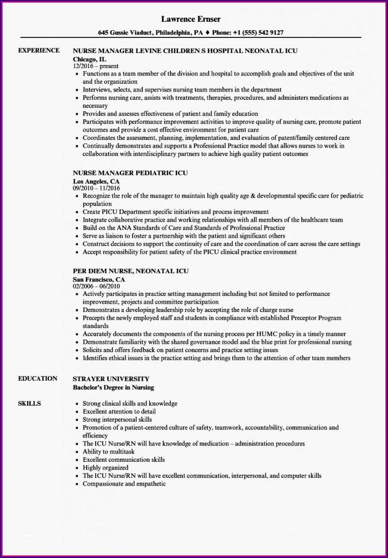 Examples Of Icu Nurse Resumes