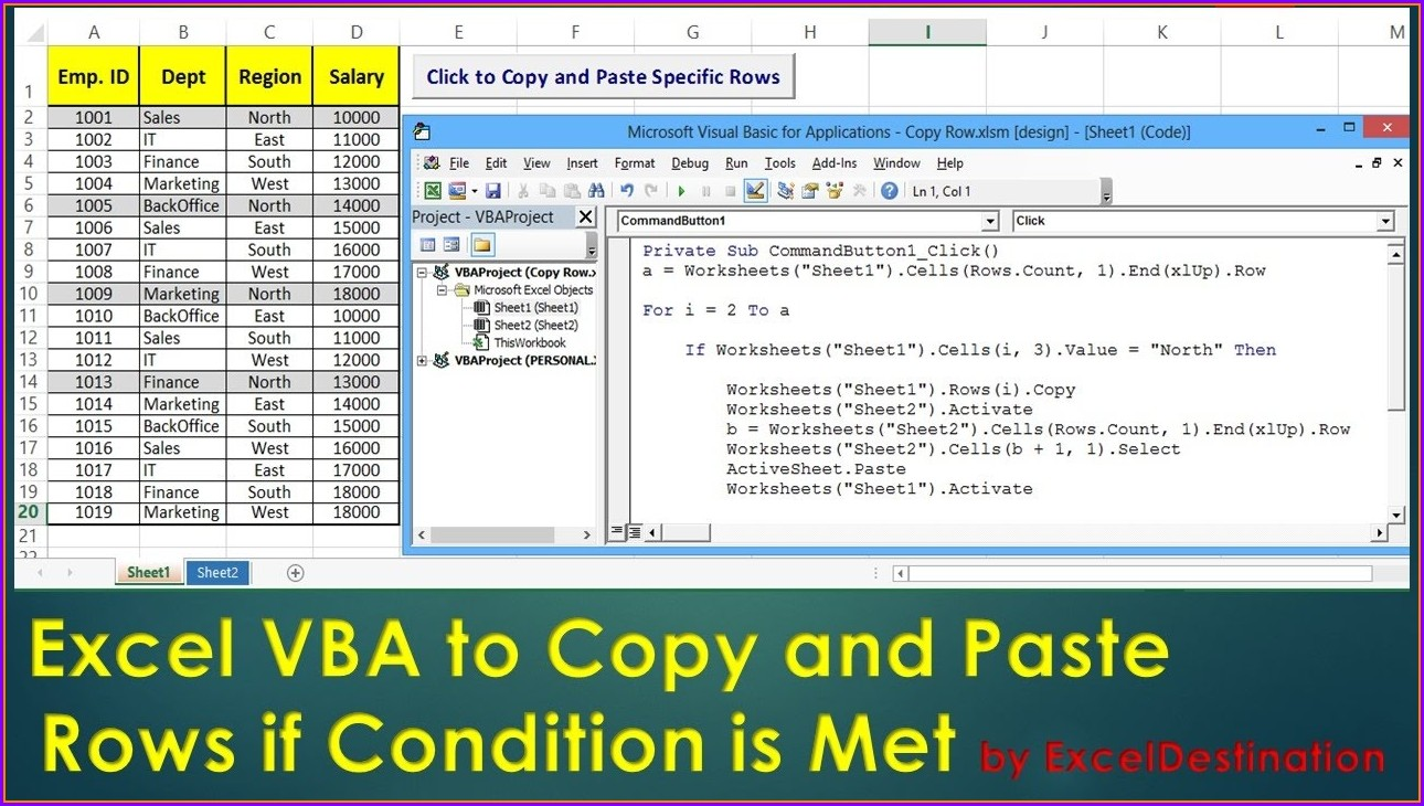 Excel Create Copy Of Worksheet Vba