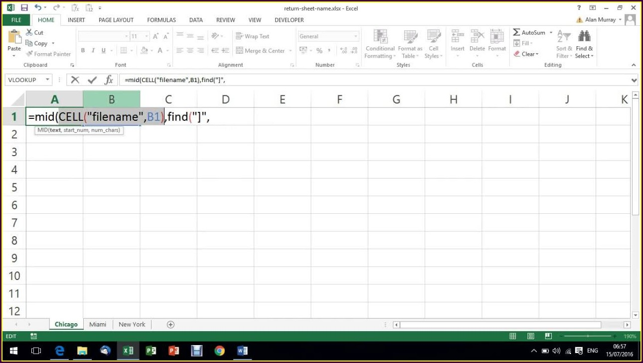 Excel Enter Worksheet Name In A Cell