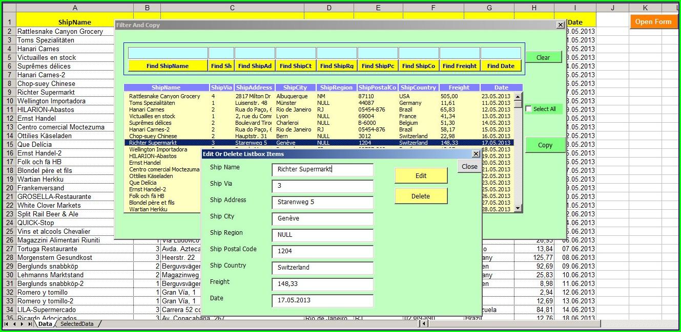 Excel Event Worksheet Open