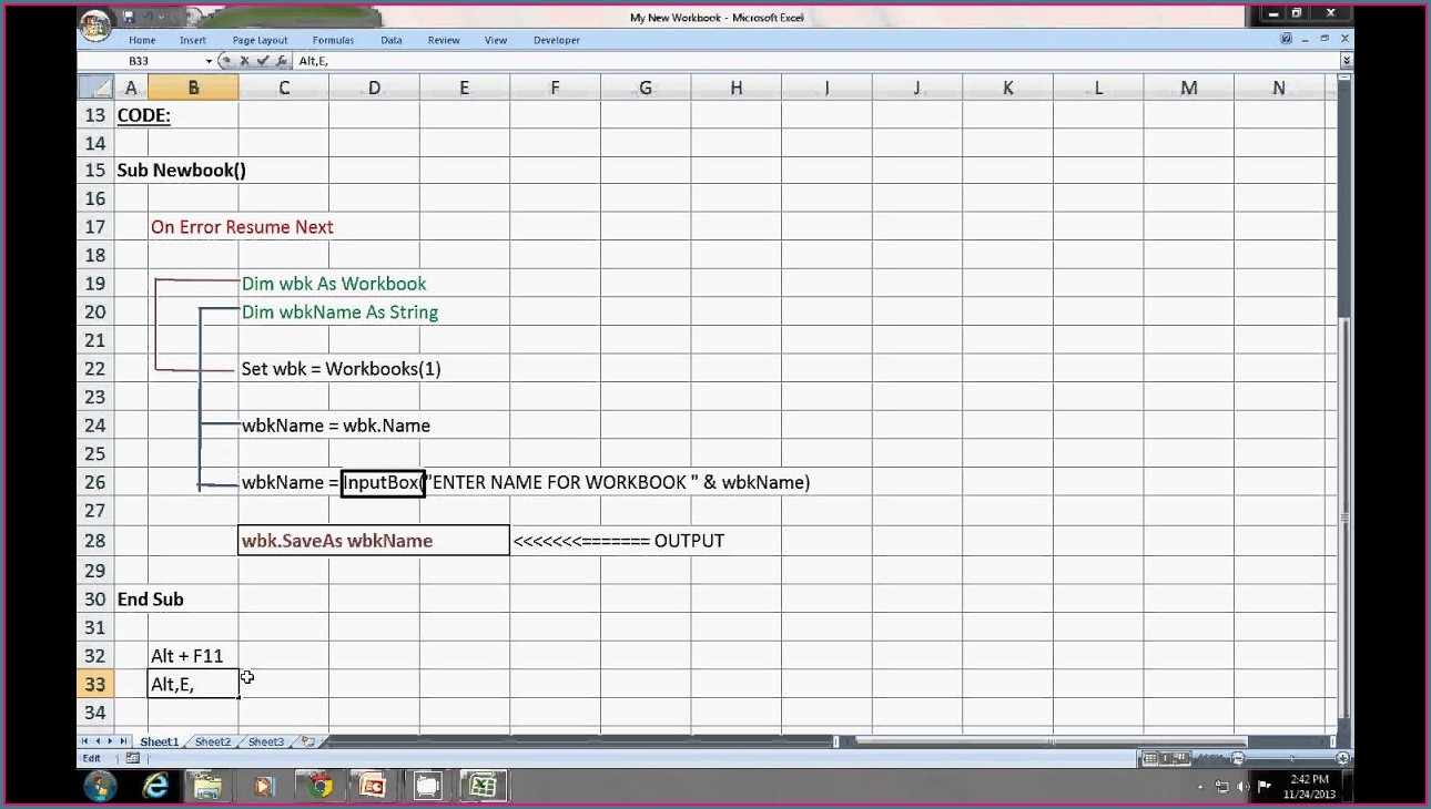 Excel Macro Get Workbook Name