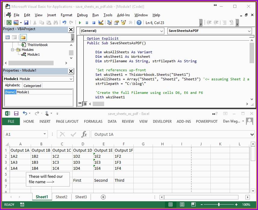 Excel Macro Print Sheet As Pdf