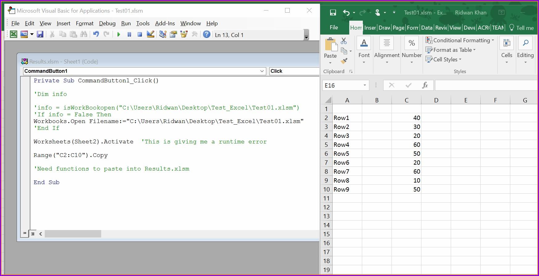 Excel Vba Copy Worksheet Button