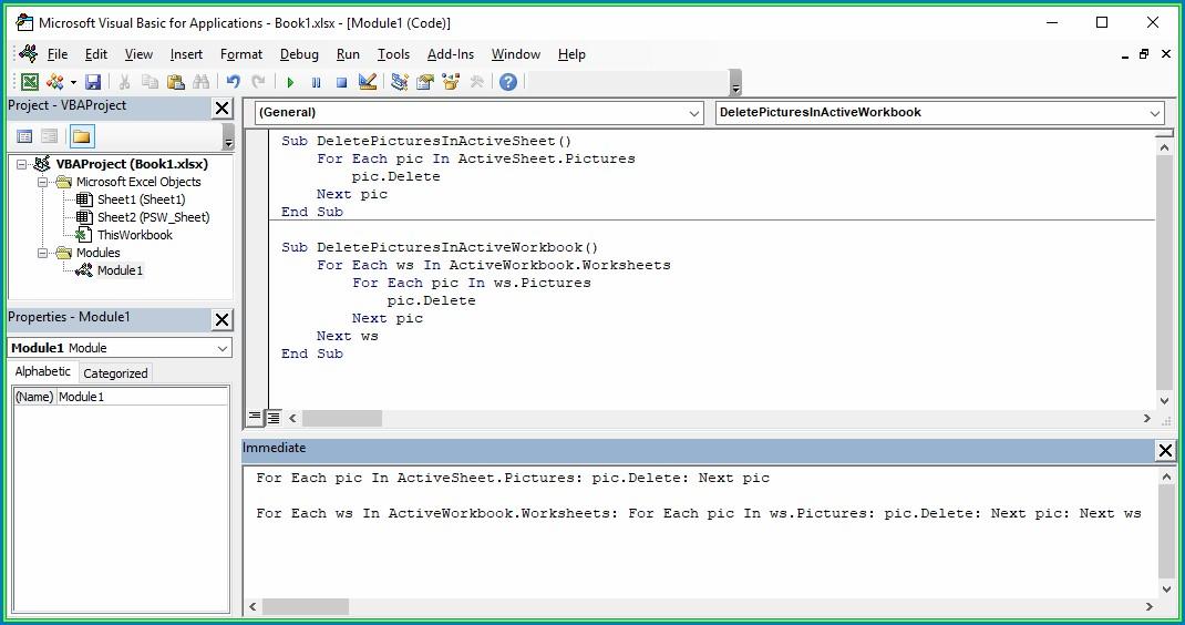 Excel Vba Delete Active Worksheet