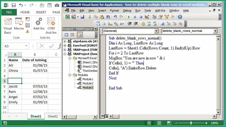 Excel Vba Delete Row Protected Sheet