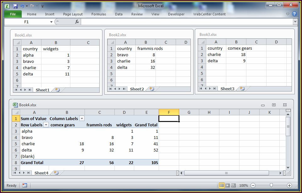 Excel Vba Join Worksheets