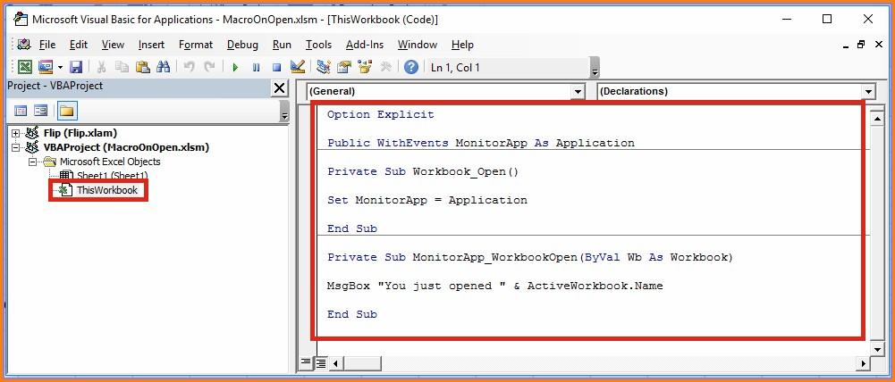 Excel Vba Run When Worksheet Open