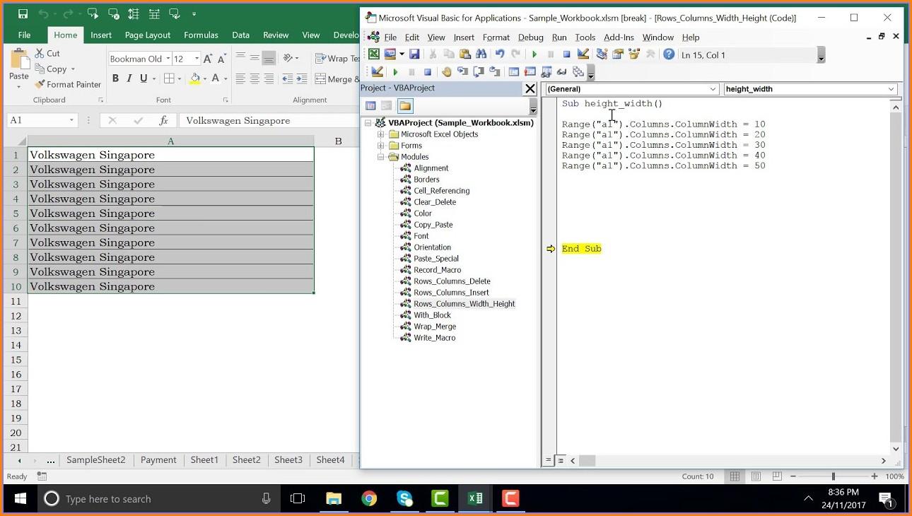 Excel Vba Set Column Width Best Fit
