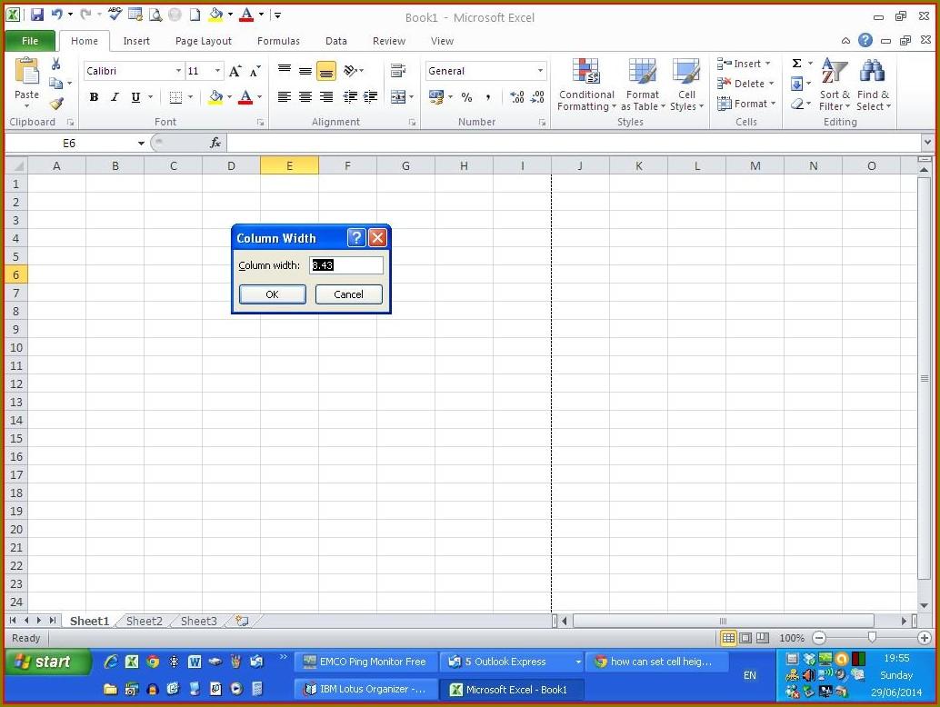 Excel Vba Set Column Width In Mm