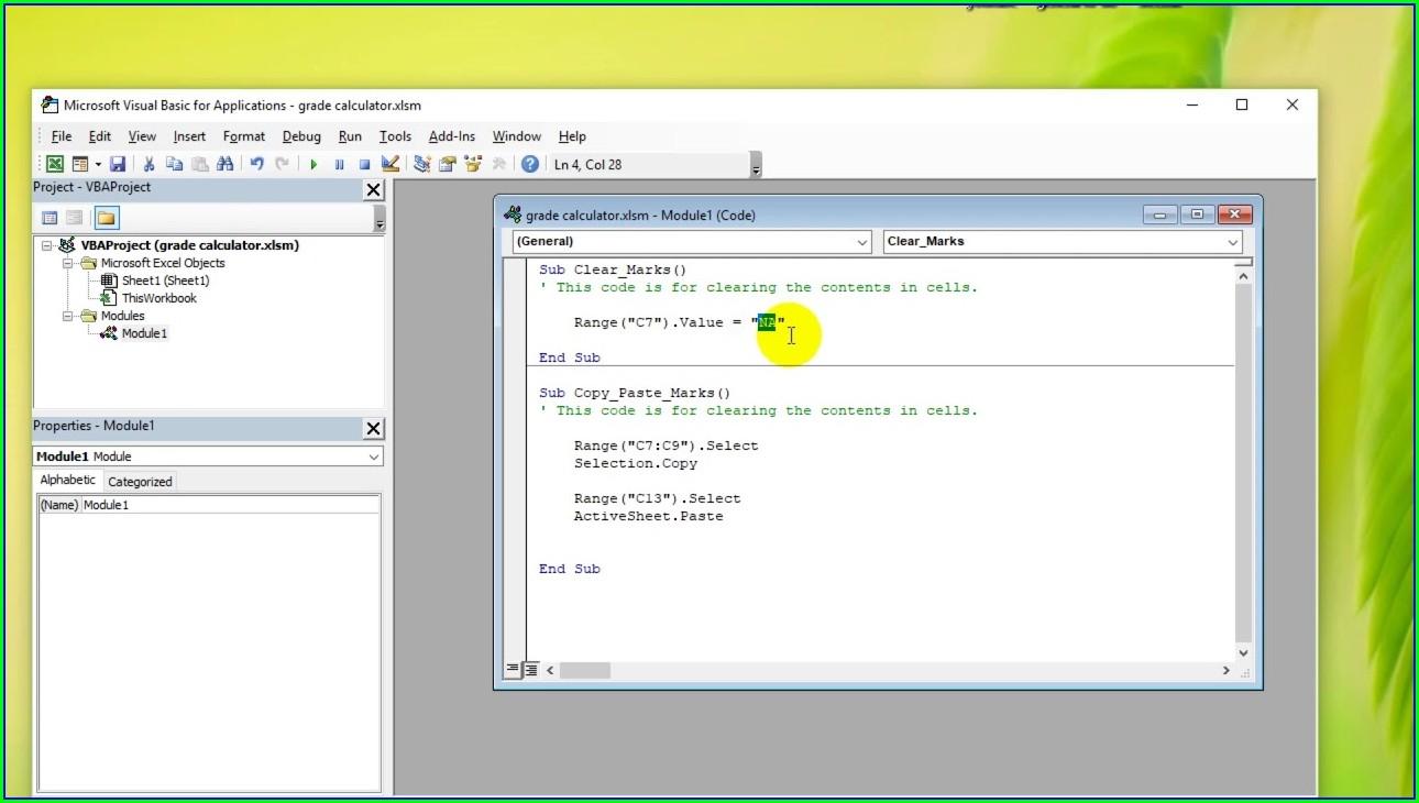 Excel Vba Set Worksheet Property