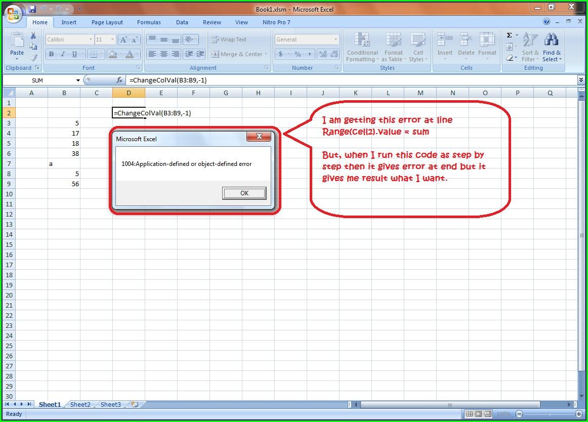 Excel Vba Sheets Range Cells