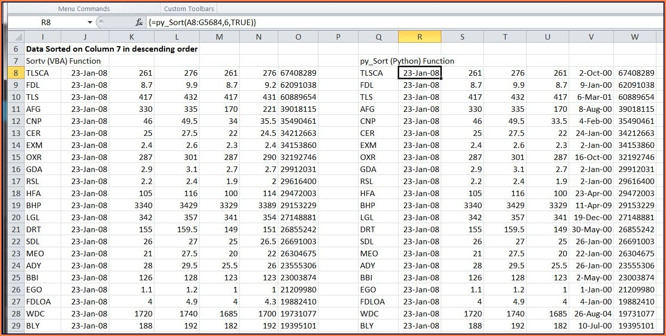Excel Vba Sort Array Descending