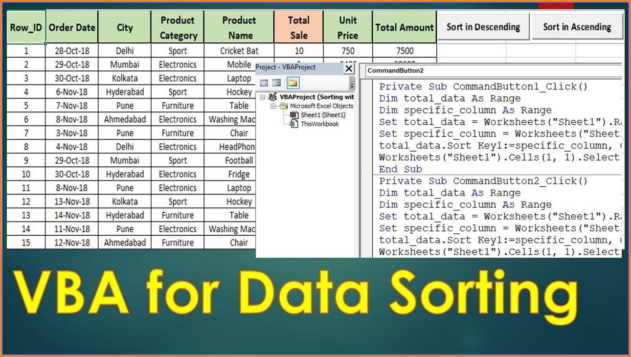 Excel Vba Sort Data Ascending