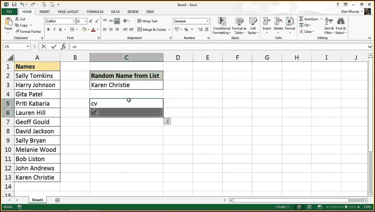 Excel Vba Sort List Randomly