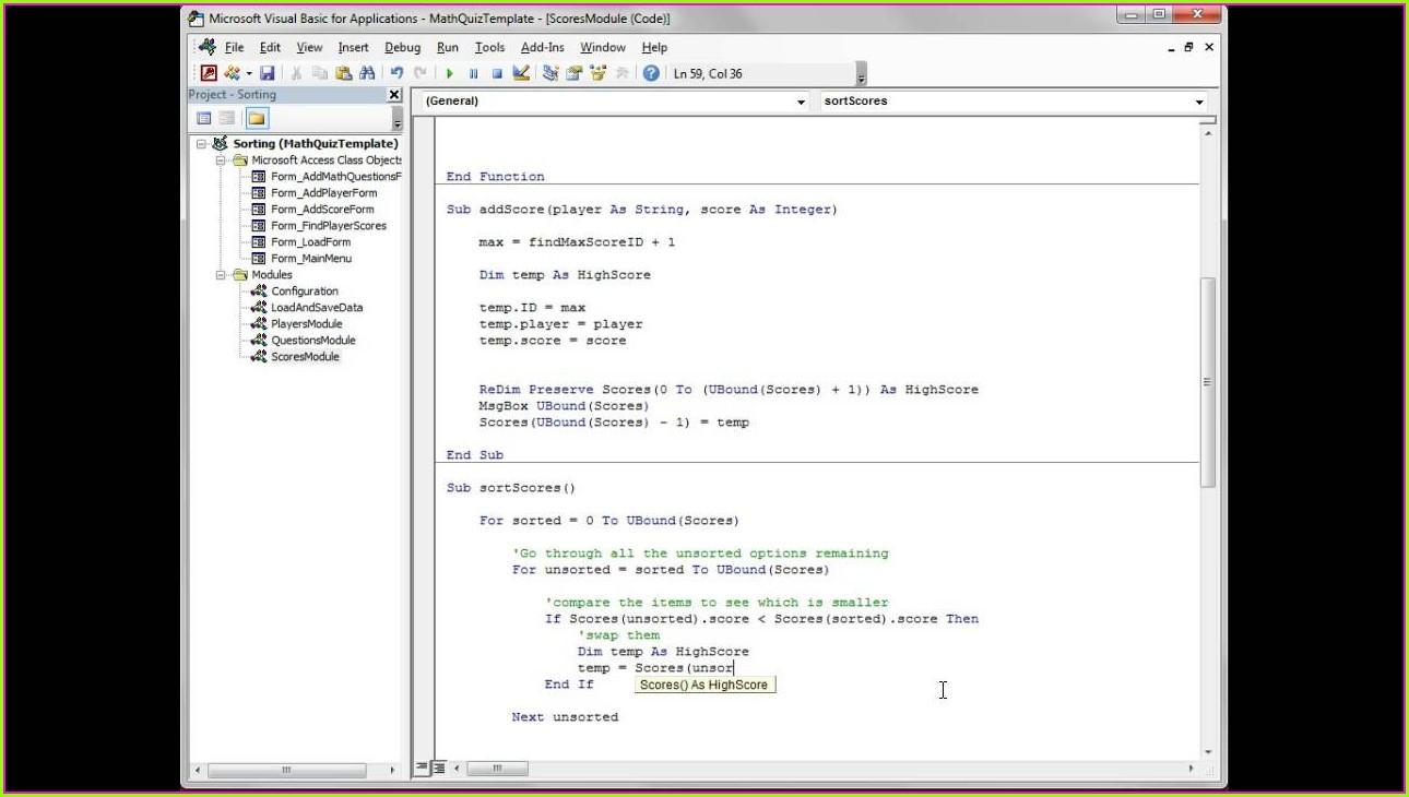 Excel Vba Sort Numbers In Array
