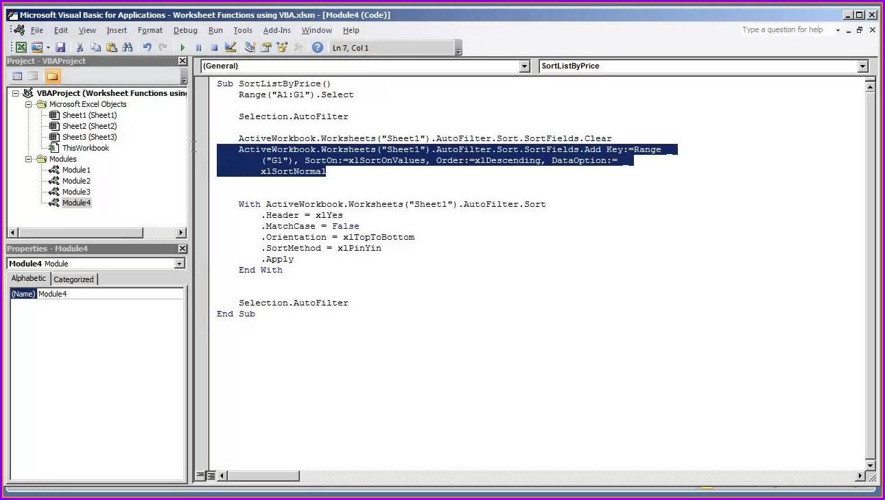 Excel Vba Sort Worksheet By Name