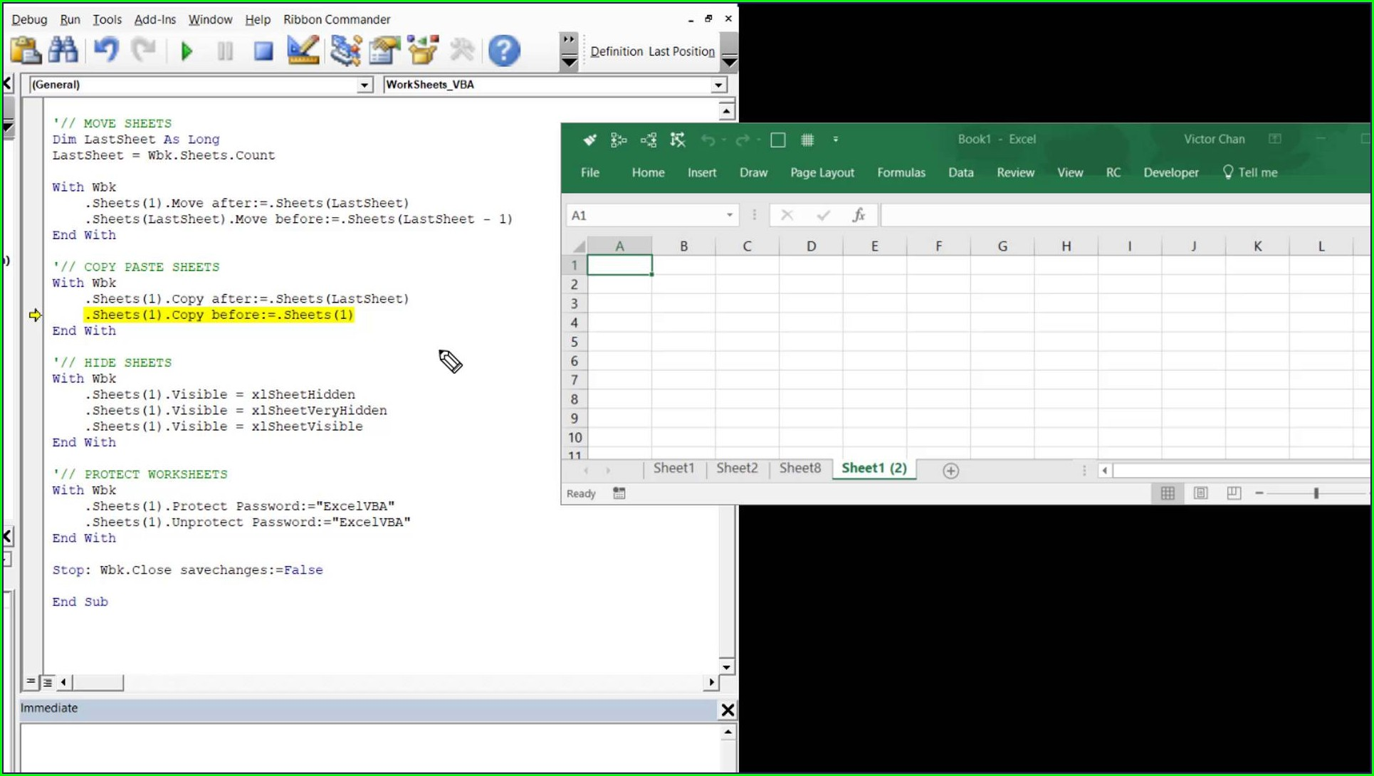Excel Vba Worksheet Move Before