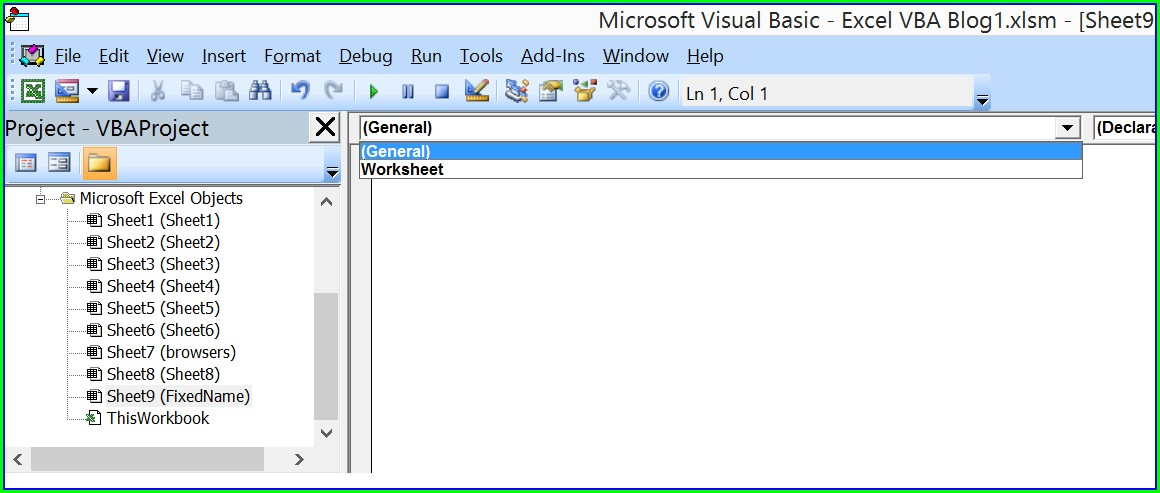 Excel Vba Worksheet Name Select