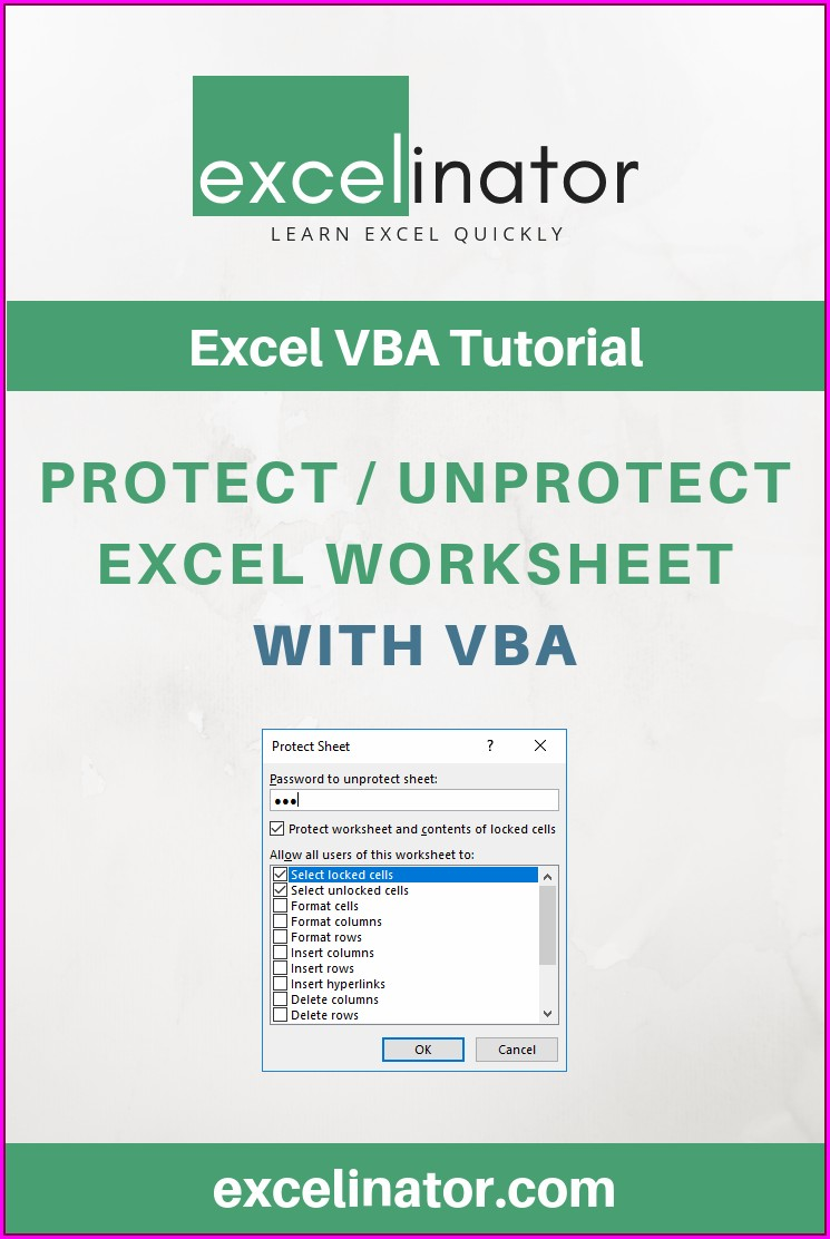 Excel Vba Worksheet Protect