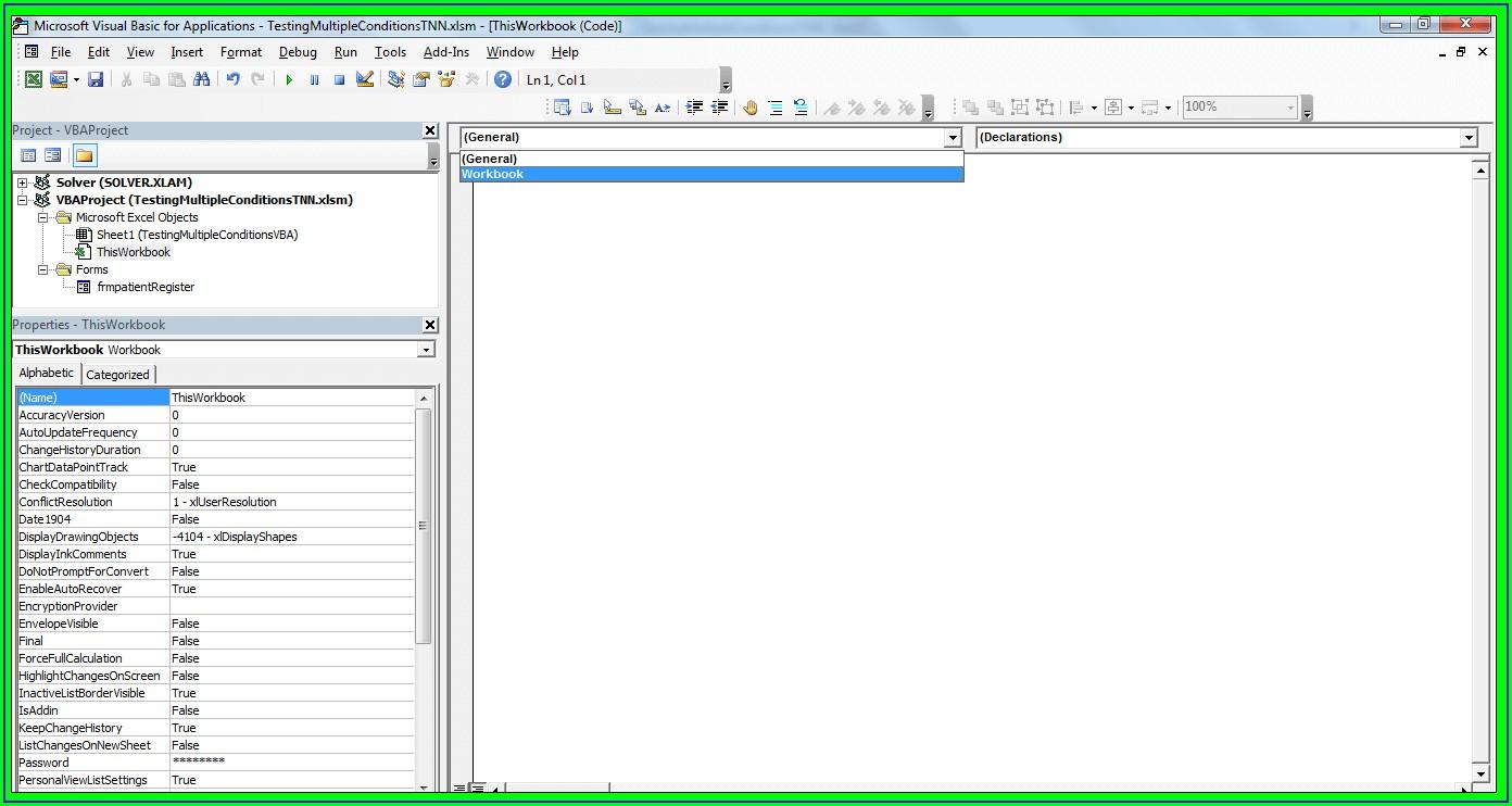 Excel Worksheet Event Vba