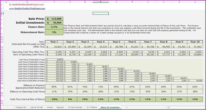 Excel Worksheet For Rental Property