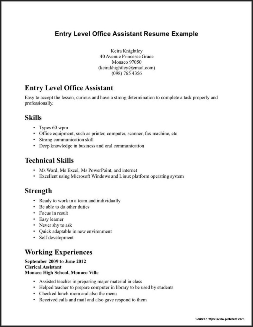 Experienced Dental Assistant Resume Sample