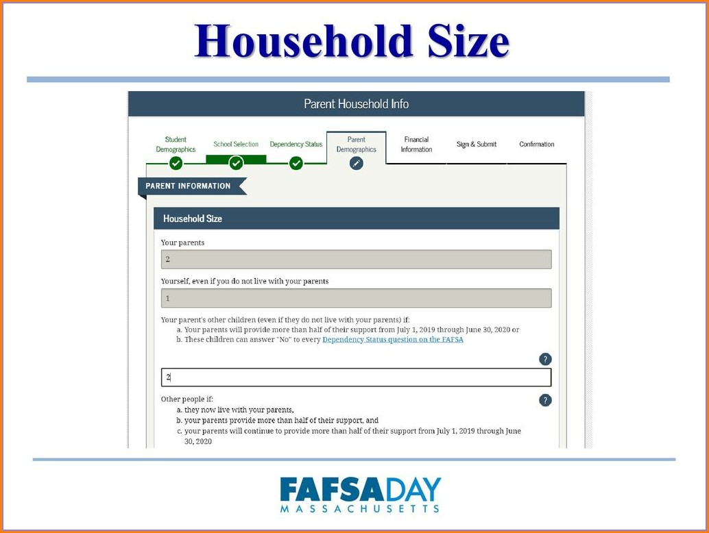 Fafsa Household Size Worksheet