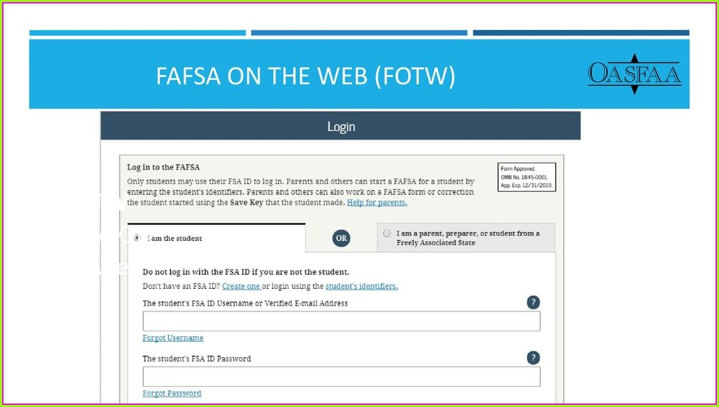 Fafsa Is The Key Worksheet