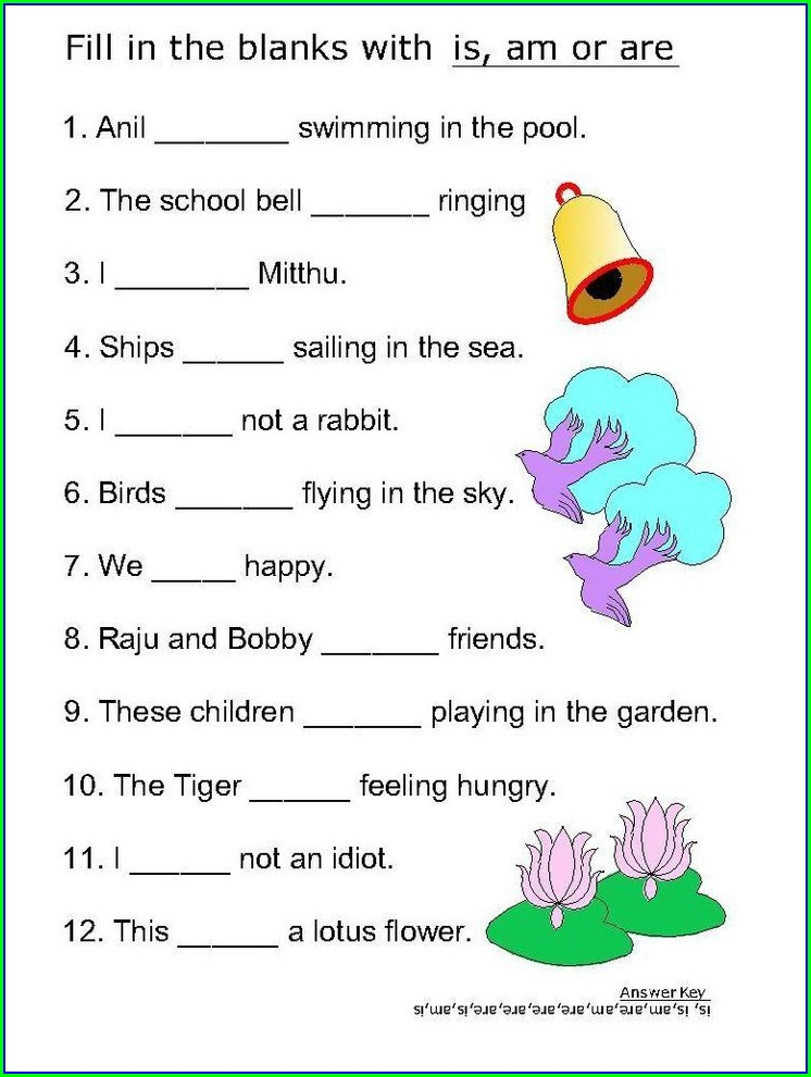 First Grade English Grammar Worksheets