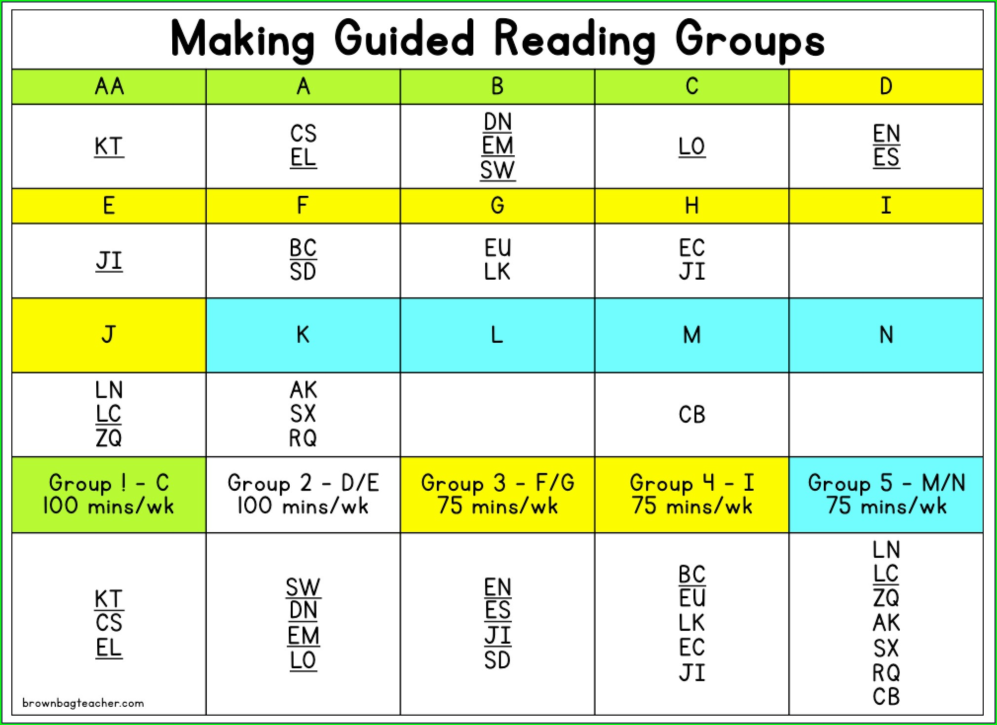 First Grade Guided Reading Worksheet