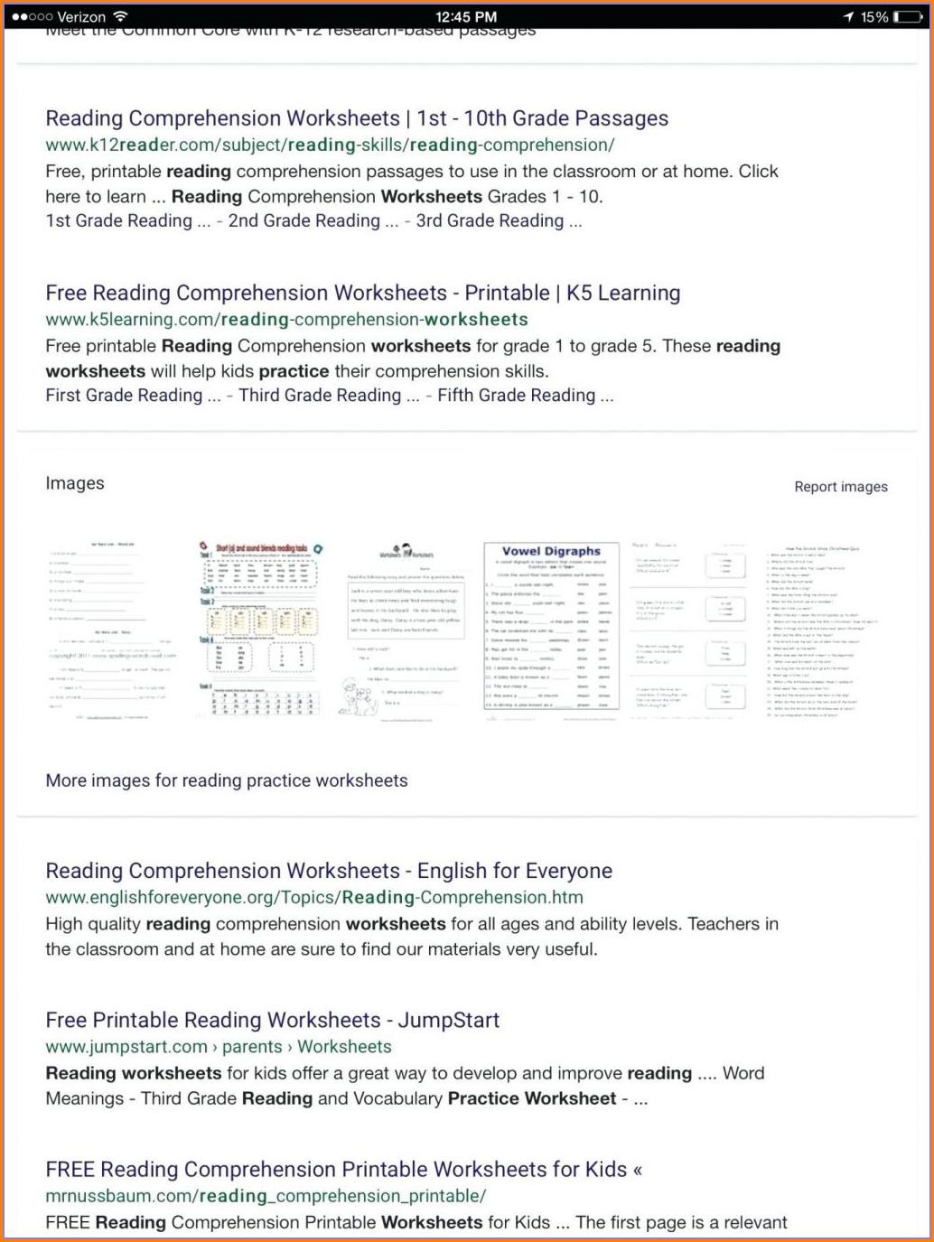 First Grade Key Details Worksheet