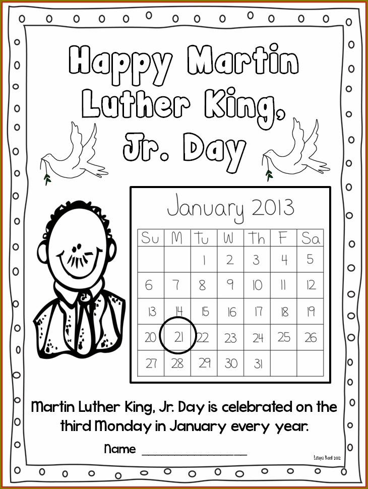 First Grade Martin Luther King Jr Day Worksheets