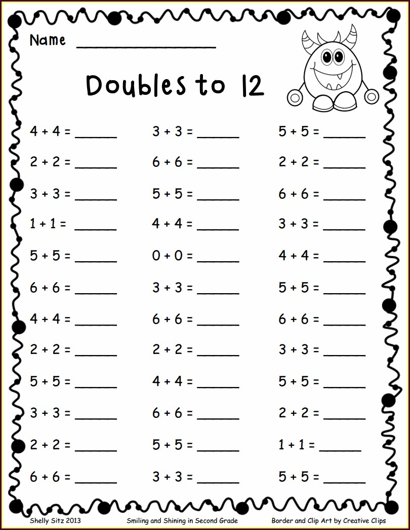 First Grade Math Worksheets Pdf