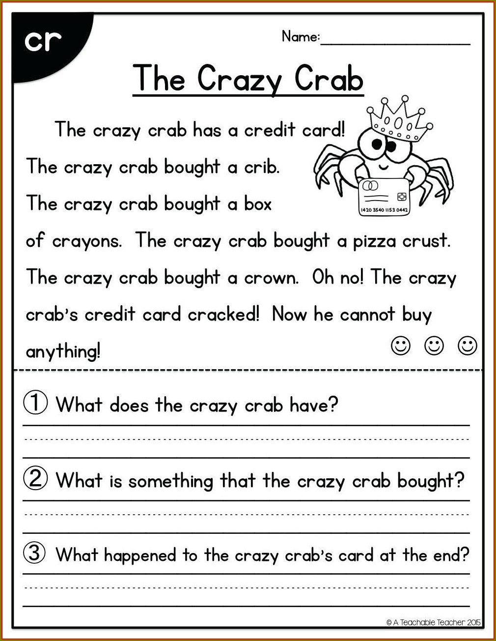 First Grade Reading Comprehension Worksheets Pdf