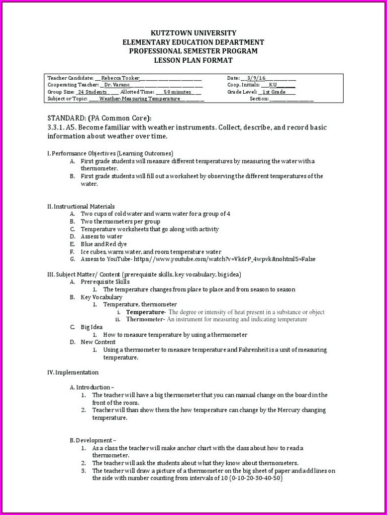 First Grade Thermometer Worksheet