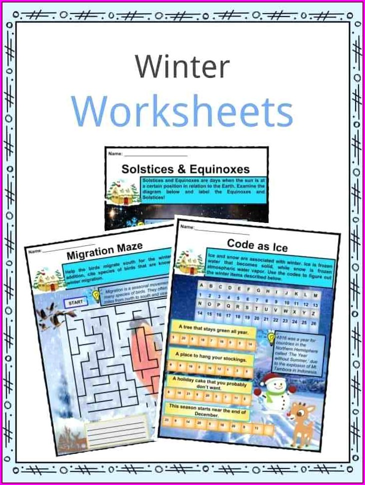 First Grade Winter Writing Worksheets