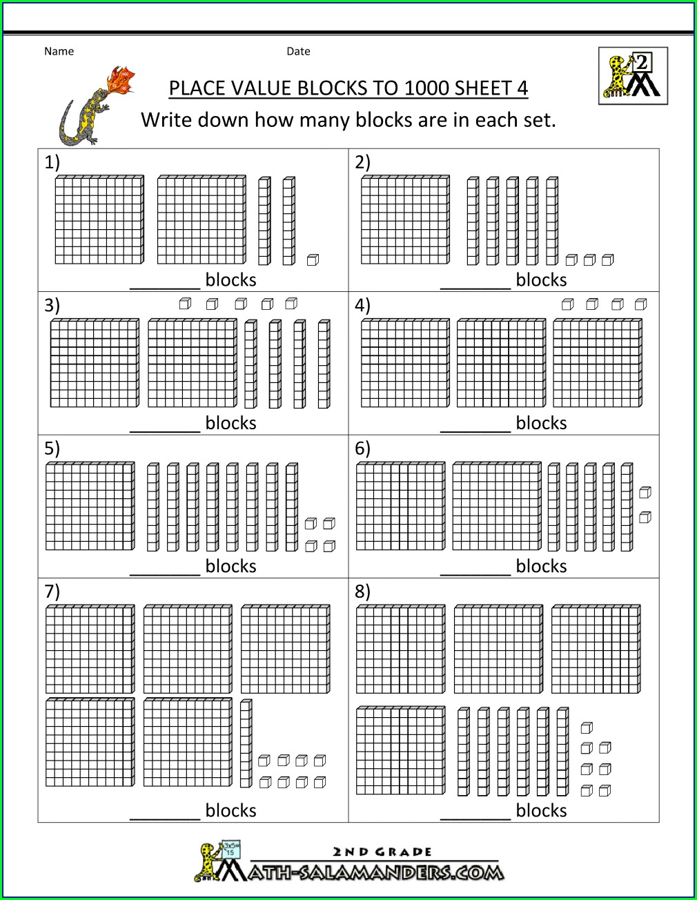 First Grade Worksheets For Place Value