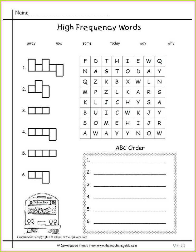 First Grade Writing Worksheet For 1st Grade