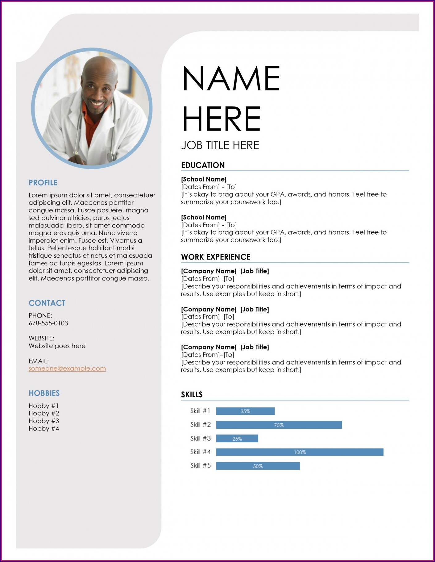 Free Cv Template Downloads Uk
