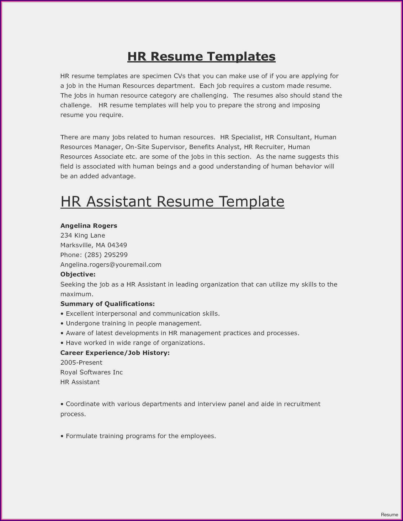 Free Executive Classic Resume Template